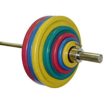 Штанга тренировочная 182,5 кг (МВ) цветная.  - фото 1